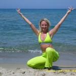 Monika beim Strand Training